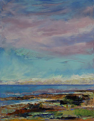 Ocean Oil Painting - California Seascape by Michael Creese