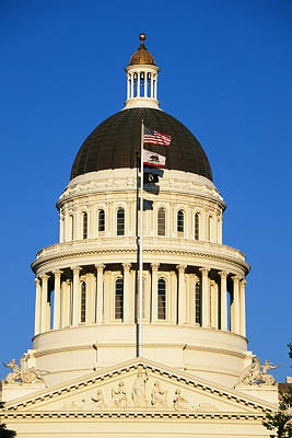 California State Capitol Building Art Print by Panoramic Images