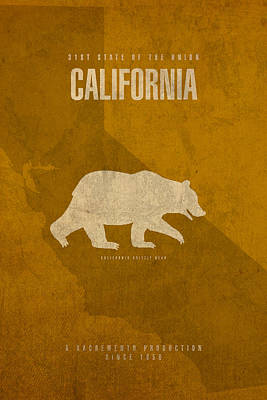 Mixed Media - California State Facts Minimalist Movie Poster Art  by Design Turnpike