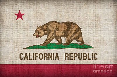 California State Flag Art Print by Pixel Chimp