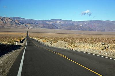 Panamint Valley Photograph - California State Highway by Jim West