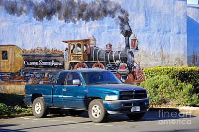 California Steamin' Art Print by Andrea Simon