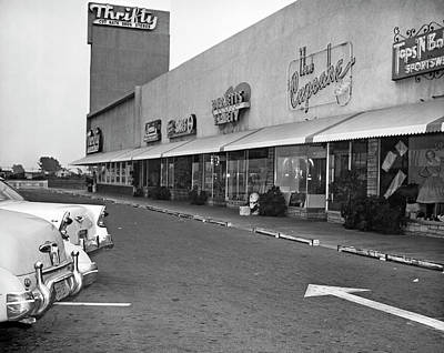 California Strip Mall Art Print by Underwood Archives