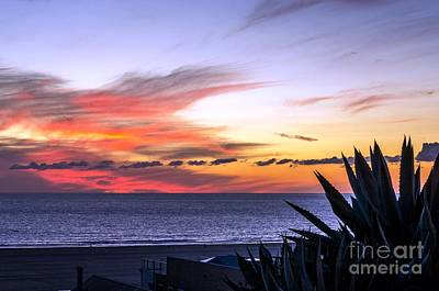 California Sunset Art Print by Mike Ste Marie