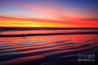 Photograph - North County Surf Ripples by John F Tsumas