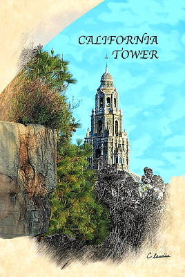 Photograph - California Tower by Claudia Ellis