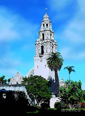 San Diego Artist Digital Art - California Tower by John Engen