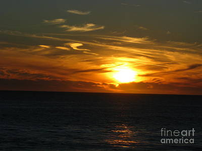 California Winter Sunset Art Print