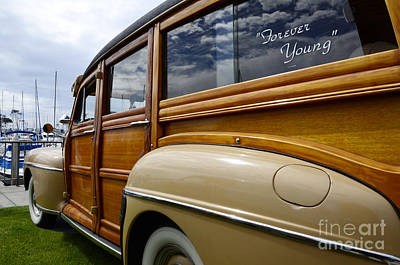 Photograph - California Woodie Forever Young by Bob Christopher