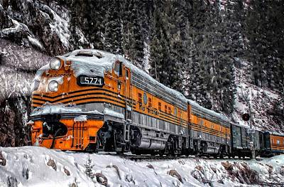 Colorado Ski Art Wall Art - Photograph - California Zephyr by Ken Smith