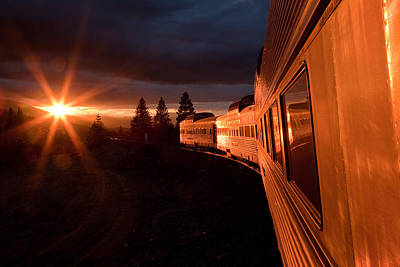 Train Photograph - California Zephyr Sunset by Ryan Wilkerson