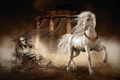 Ancient Roman Digital Art - Caligula's Horse by Shanina Conway
