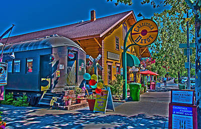 Photograph - Calistoga Depot by Richard J Cassato