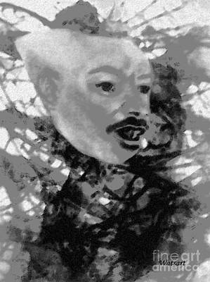 Balck Art Mixed Media - Call It In The Air by Lydia Watson aka Watsart