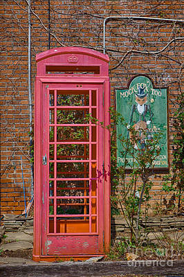 Call Me - Abandoned Phone Booth Art Print by Kay Pickens