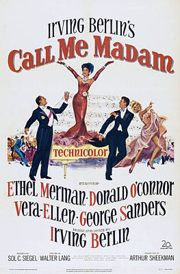 Ethel Merman Photograph - Call Me Madam, Us Poster Art, From Left by Everett