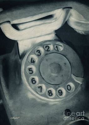 Call Me Yesterday Print by Jutta Maria Pusl