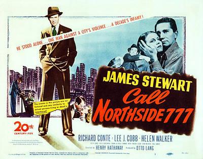 Richard Conte Photograph - Call Northside 777, Us Lobbycard, James by Everett