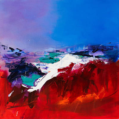Red Wall Art - Painting - Call Of The Canyon by Elise Palmigiani