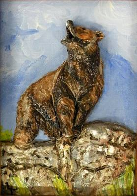 Brown Bear Mixed Media - Call Of The Wild by Lorrie T Dunks