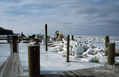 Ice Out Photograph - Call The Insurance Company by Skip Willits