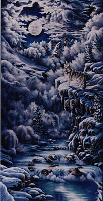 Snow Painting - Call To The Spirits by Lori Salisbury