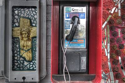 Payphone Photograph - Call Your Father by Jane Linders