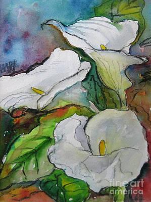 Calla Lilies Art Print by Gwen Nichols