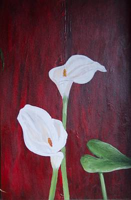 Painting - Calla Lilies by Ron Woodbury