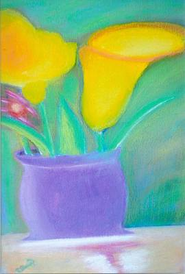 Mixed Media - Calla Lilies Supreme by Robert Bray