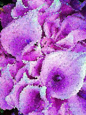 Photograph - Calla Lillies Purple Abstract  by Saundra Myles