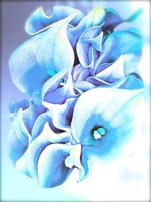 Painting - Calla Lilly So Soft Lilac And Blue by Saundra Myles