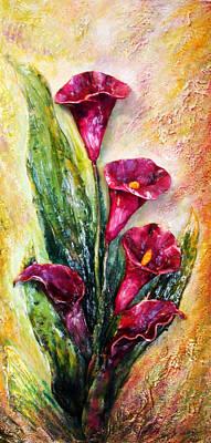 Calla Lily - 3d Expression Art Print