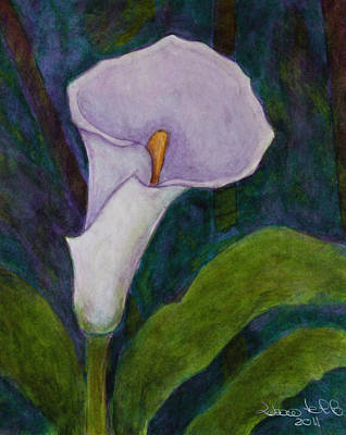 Lilium Painting - Calla Lily II by Madalena Lobao-Tello