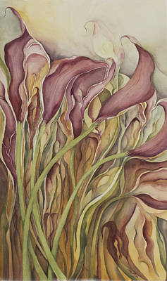 Painting - Calla Lily by Lynne Bolwell