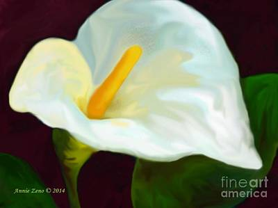 Painting - Calla Lily Painting by Annie Zeno