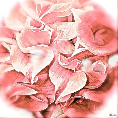 Painting - Calla Lily Pink Impression by Saundra Myles