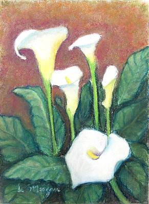 Painting - Calla Quintet by Laurie Morgan