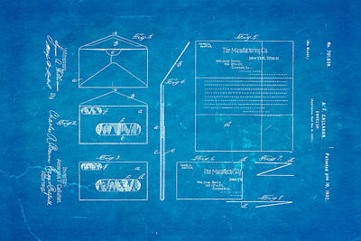 Callahan Window Envelope Patent Art 1902 Blueprint Art Print