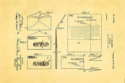 Callahan Window Envelope Patent Art 1902 Art Print