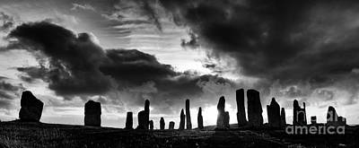 Callanish Standing Stones Monochrome Print by Tim Gainey