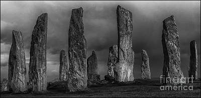Photograph - Callanish Stone Circle Mono by George Hodlin