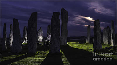 Photograph - Callanish Stones Light Painting No1 by George Hodlin