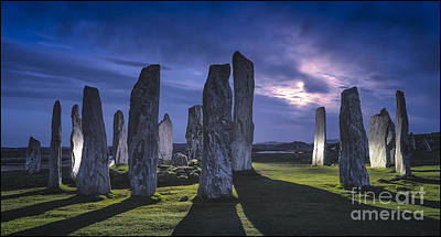 Photograph - Callanish Stones Light Painting No2 by George Hodlin