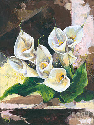 Calla Lilly Painting - Callas by Elisabeta Hermann