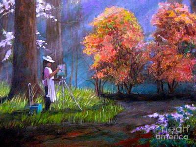 Painting - Callaway Garden Artist by Gretchen Allen