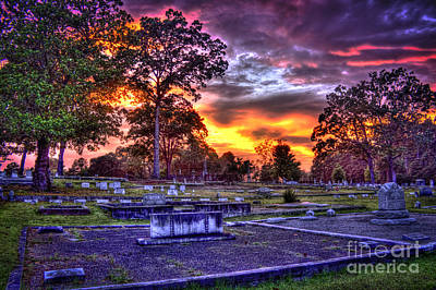 Photograph - Callaway Graves At Sunset by Reid Callaway