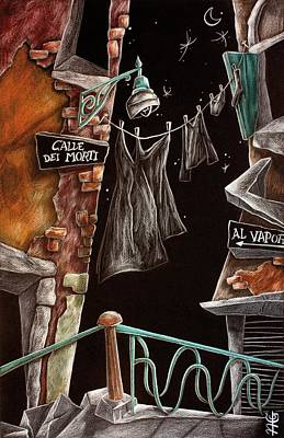 Venezia Drawing - Calle Dei Morti - L'arte Di Venezia  by Arte Venezia
