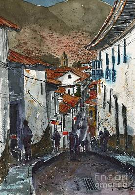 Calle Triunfo In Cusco Peru Art Print by Tim Oliver