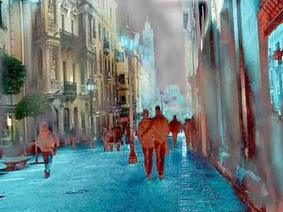 Calle Zamora De Salamanca Art Print